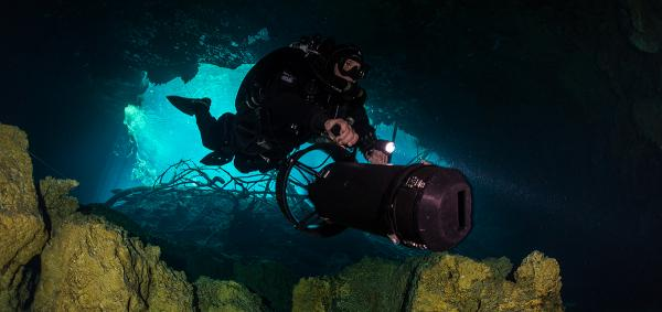 CCR Rebreather cave diving